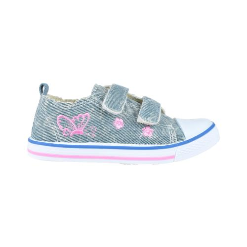 Zapato Deportivo con Doble Velcro Guga Jeans Butterfly Talles 25-30