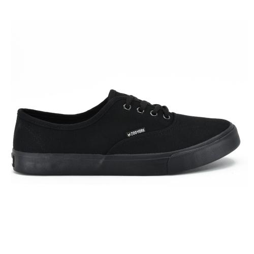 Champion Deportivo Casual Skate Tela Zoo York Mens Hamilton Acordonado All black