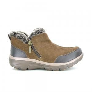 Bota Casual Skechers Relaxed Fit Easy Going Wide Fit Horma Ancha Brown