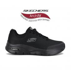 Champion Deportivo Skechers Arch Fit Wide Fit Horma Ancha Black
