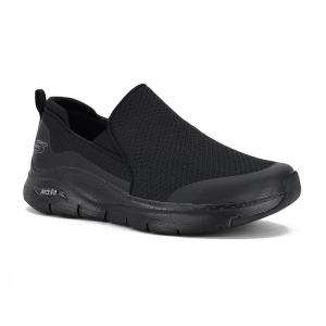 Champion Deportivo Skechers Arch Fit Banlin Wide Fit Horma Ancha Black