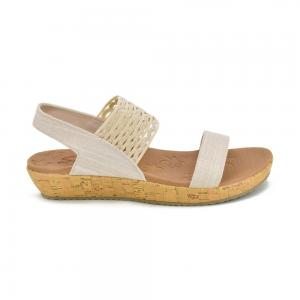 Sandalia Casual Skechers Brie Most Wanted Beige