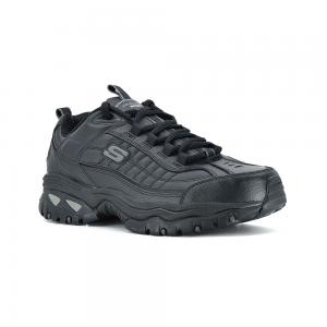 Champion Skechers Enery After Burn Black Wide Fit Horma Ancha