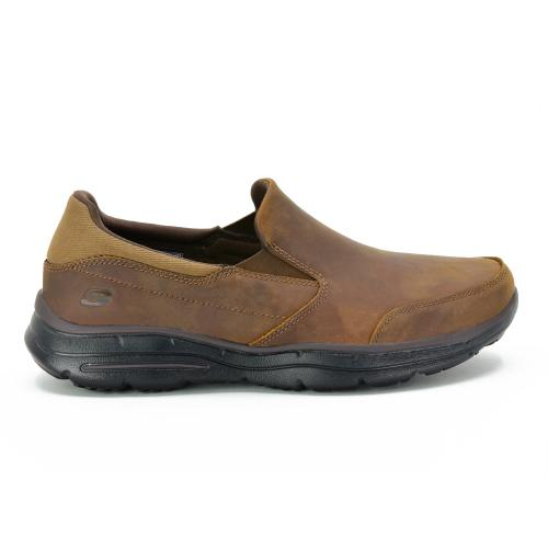 Zapato Casual Skechers Glides Wide Fit Horma Ancha Brown