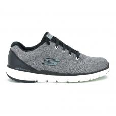 Champion Deportivo Skechers Flex Advantage 3.0 Stally Wide Fit Horma Ancha Grey
