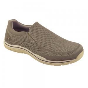 Zapato Casual Skechers Expected Gomel Wide Fit Horma Ancha Camel