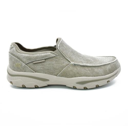 Zapato Skechers Relaxed Fit Creston Moseco Wide Fit Horma Ancha Taupe