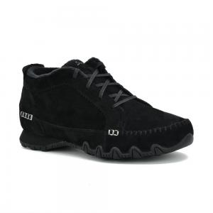 Bota Skechers Relaxed Fit Bikers Lineage Wide Fit Black
