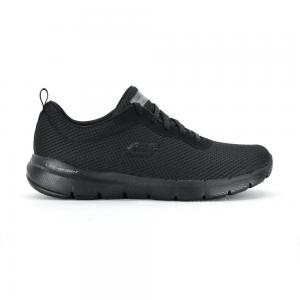 Champion Deportivo Skechers Flex Appeal 3.0 First Insight Wide Fit Horma Ancha All Black