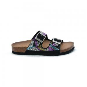 Sandalia Casual Skechers Relaxed Fit Granola Sparkler Black