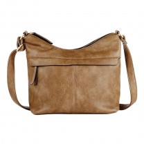 Cartera Bandolera Korium Crackled Light Brown