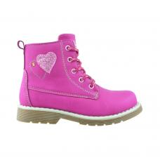 Bota Para Niñas Guga Shiny Hearts Lace-up